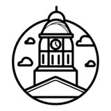 Kalifornia stanu Capitol jest domowy rz?d Kalifornia, Stany Zjednoczone Ameryka ilustracja wektor