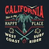 KALIFORNIA SZCZĘŚLIWY miejsce Ilustracja Wektor