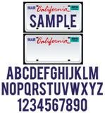 Kalifornia tablica rejestracyjna Obraz Stock