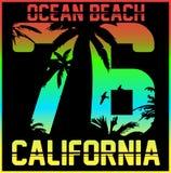 Kalifornia typografia, koszulek grafika, wektory ilustracja wektor