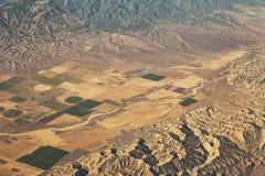Kalifornia uprawia ziemię od powietrza Obraz Royalty Free
