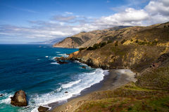 Kalifornia wybrzeże - Duża Sura linia brzegowa obrazy royalty free