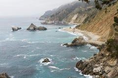 Kalifornia wybrzeże Fotografia Royalty Free