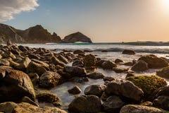 Kalifornia wybrzeża zmierzchu krajobraz Fotografia Stock