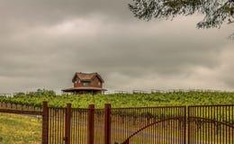 Kalifornia wytwórnia win na chmurnym dniu Zdjęcia Stock