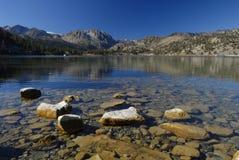 Kalifornien östlig juni lake Fotografering för Bildbyråer