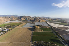 Kalifornien-Bauernhof-Feld-Antenne Ventura County Stockfotografie