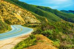 Kalifornien bygdhuvudväg Arkivfoto