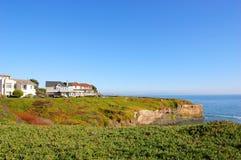 Kalifornien cruzsanta seashore Arkivbilder