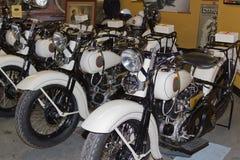 Kalifornien-Datenbahn-Patrouillen-Weinlese Harleys stockfoto