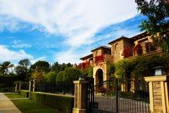 Kalifornien dröm- hus och gods i Los Angeles, CA Arkivfoton