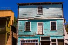 Kalifornien-Engels-Lagerhäuser in wirklichem altem West lizenzfreies stockbild