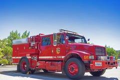 Kalifornien-förenade tillstånd, Juli 12, 2014: Iconic röd färg Americ Royaltyfria Bilder