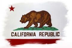 Kalifornien-Flagge stockfotos