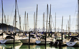 Kalifornien hamnsegelbåt arkivfoto