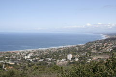 Kalifornien havsikt arkivfoto