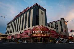 Kalifornien hotell- och kasinoLas Vegas skymning Royaltyfri Bild