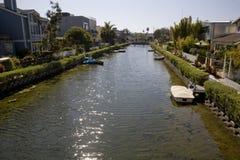 Kalifornien kanal venice Arkivbilder