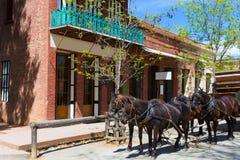Kalifornien Kolumbien eine wirkliche alte Westgoldrausch-Stadt Stockbild