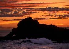 Kalifornien kust Arkivbilder