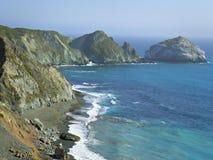 Kalifornien kust från huvudväg en Arkivbild