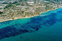 Kalifornien kust på staden av Santa Cruz royaltyfria foton