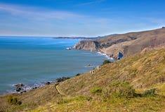 Kalifornien kustlinje i den Tamalpais delstatsparken, Marin County Arkivbild