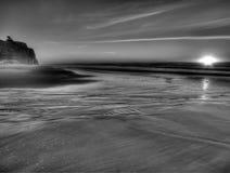 Kalifornien kustsolnedgång Fotografering för Bildbyråer