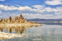 Kalifornien lake mono USA Arkivbilder