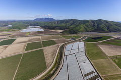 Kalifornien-Landwirtschafts-Antenne Stockbild