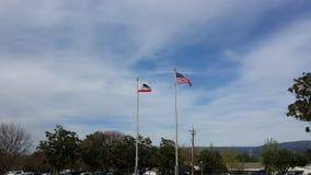 Kalifornien och USA-flaggor Royaltyfri Bild