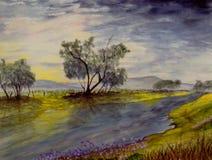 Kalifornien owensflod Arkivbild