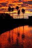 Kalifornien reflekterade solnedgång Royaltyfri Foto