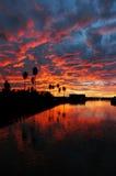 Kalifornien reflexionssolnedgång Royaltyfria Bilder