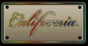 Kalifornien registreringsskylt vektor illustrationer