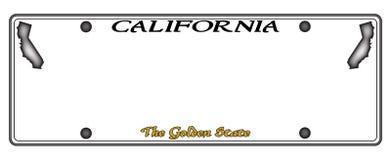 Kalifornien registreringsskylt royaltyfri illustrationer