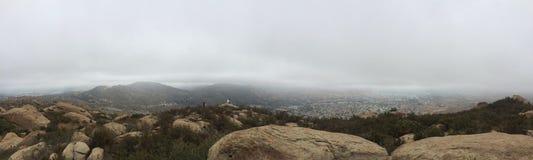 Kalifornien Rocklands panorama 2 Arkivbild