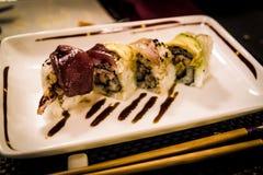 Kalifornien rollt am japanischen Restaurant Lizenzfreies Stockbild