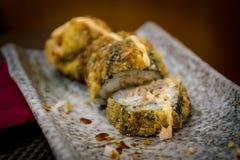 Kalifornien rollt am japanischen Restaurant Lizenzfreie Stockfotos