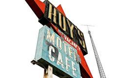 Kalifornien, Roy'sens motell och kafé på Route 66 arkivbild