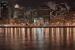 Kalifornien San Franciscan natt arkivbilder