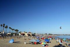 Kalifornien: Santa Cruz strandferie Arkivfoton
