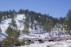 Kalifornien-Skiort Lizenzfreies Stockbild