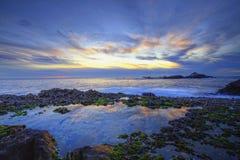 Kalifornien solnedgång Arkivfoton