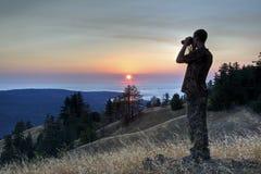 Kalifornien solnedgång Royaltyfri Bild