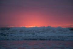 Kalifornien solnedgång Royaltyfri Fotografi