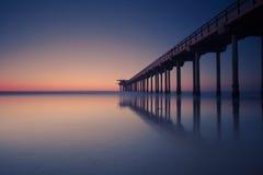 Kalifornien solnedgång arkivfoto