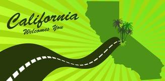 Kalifornien som ska välkomnas stock illustrationer