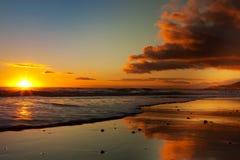 Kalifornien-Sonnenuntergang Lizenzfreie Stockfotos