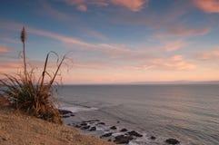 Kalifornien-Sonnenuntergang stockbild